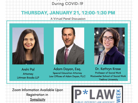 Protecting Students' Rights During Covid-19: Cardozo Law School Panel Event on Thursday, January 21