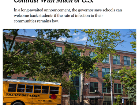 Governor Cuomo Confirms NYC Schools Can Reopen