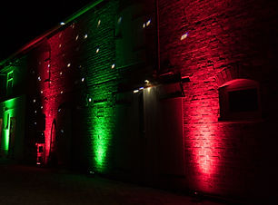 red and green dj ambient lighting design