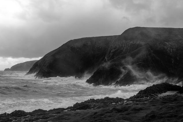 Stormy Ceibwr Bay