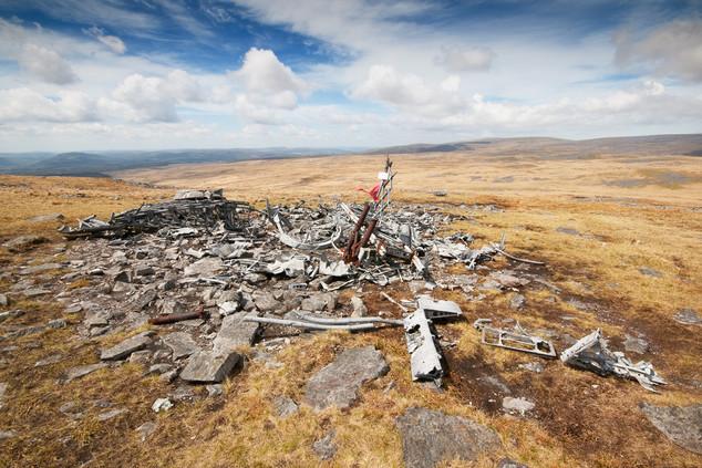 Crashed Bomber, Brecon Beacons