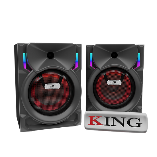 Caja KING Amplificada Doble 8 Pulgadas con Bluetooth