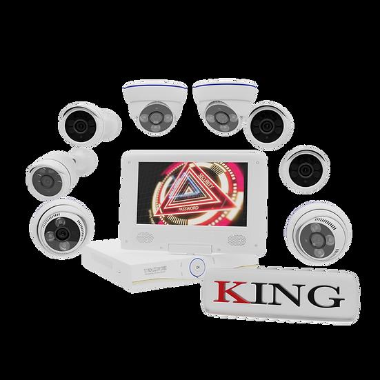 Kit de Sistema Vigilancia AHD 8 Cámaras con Pantalla