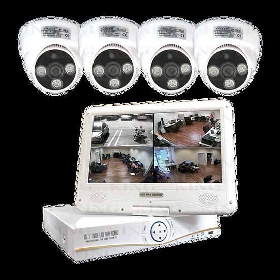 Kit de Sistema Vigilancia AHD 4 Cámaras con Pantalla