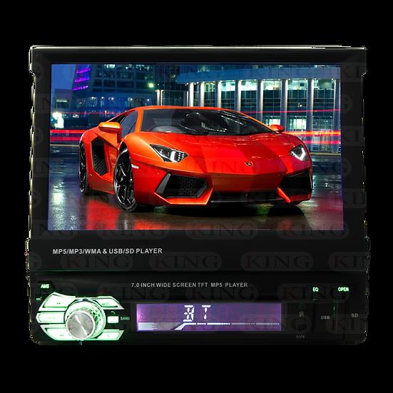 Radio 1-DIN con pantalla 7 pulgadas retráctil