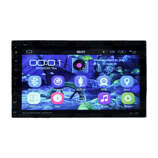 Radio 2DIN con DVD y Android Full Touch 6.9 Pulgadas