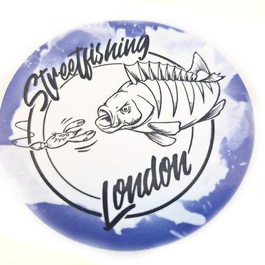 """""""Streetfishing London"""" Waterproof Sticker"""