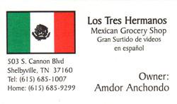 Los Tres Hermanos Business Card