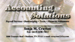 Accounting Solutions Business Card