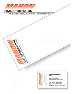 Mahon Transportation Branding