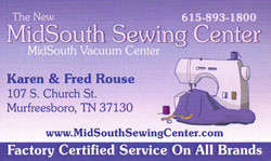 MidSouth Sewing Center Business Card