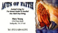 Acts of Faith Business Card