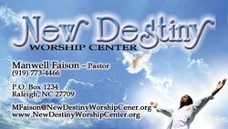 New Destiny Business Card