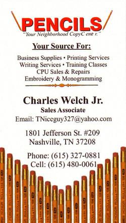 Pencils Business Card