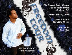 JJ - Freedom Tour Promo Postcard