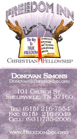 Freedom Inn Business Card