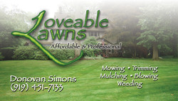 Loveable Lawns Business Card