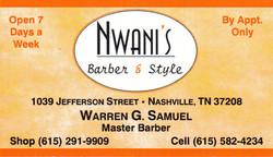 Nwani's Business Card