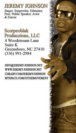 Jeremy Johnson Business Card