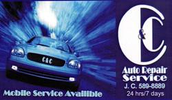 CC Auto Repair Business Card