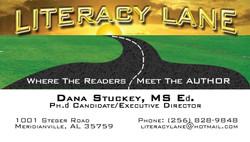 Literacy Lane Business Card