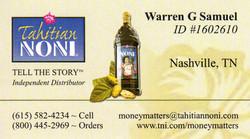 Noni Business Card