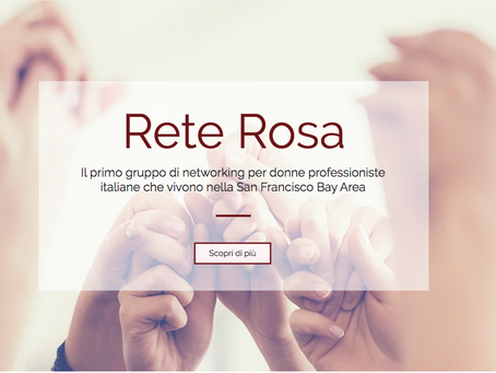 Rete Rosa: l'unione delle donne italiane che vogliono fare carriera negli Stati Uniti