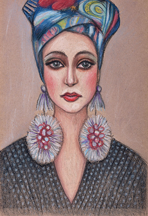 lady with earrings