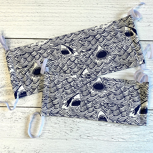 Shark Fabric Mask Size S