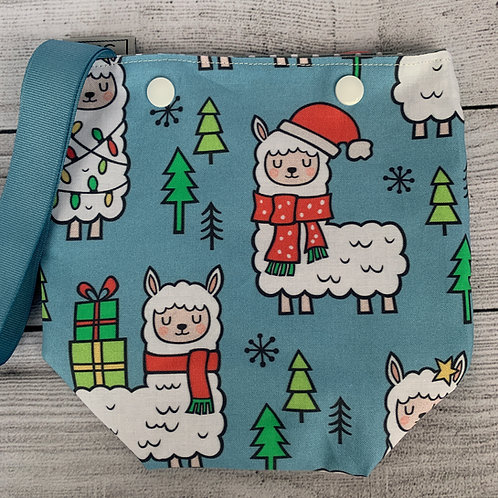 Christmas Alpacas Snap Sack