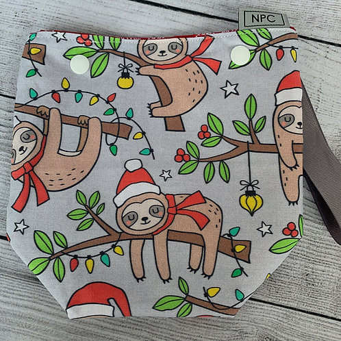 Christmas Sloths Snap Sack