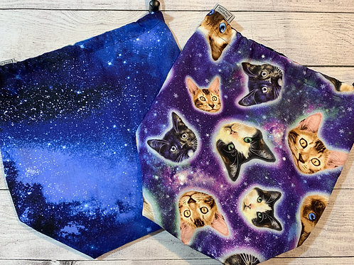 Outerspace Cats Drawstring Bag