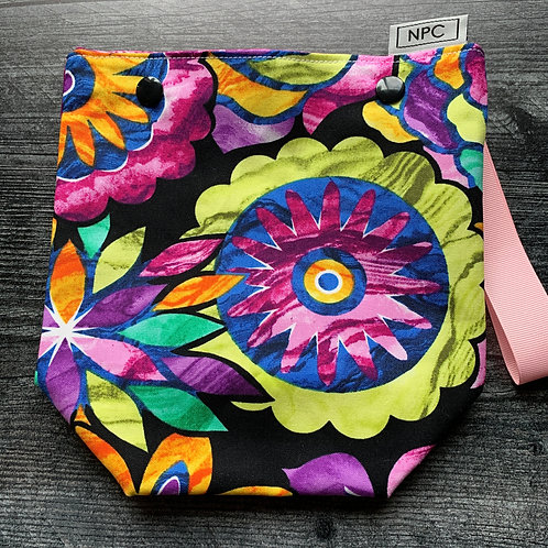 Floral Stained Glass Snap Sack