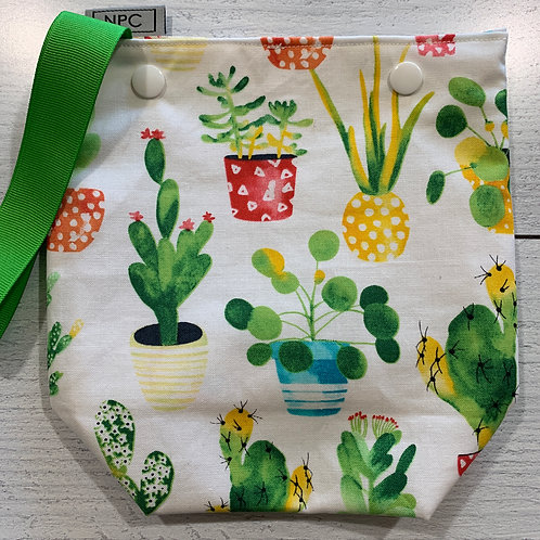 Watercolor Cacti Snap Sack