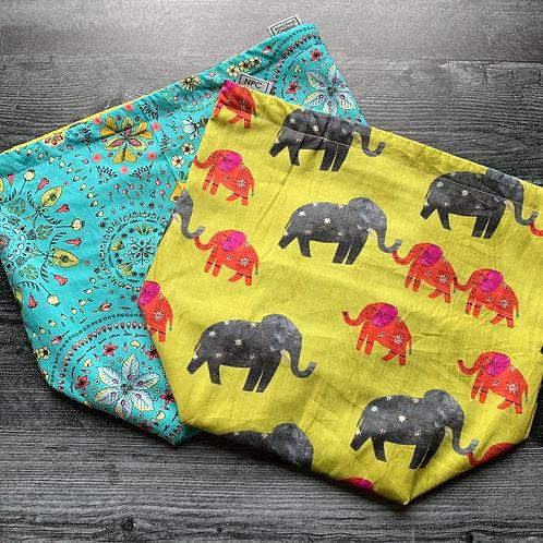 Elephants and Mandalas Drawstring Bag