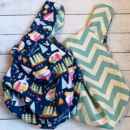 Glamping/Chevron Giant Knot Bag