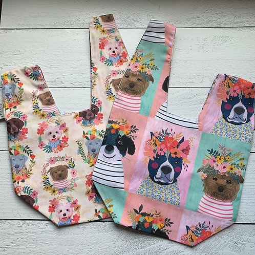 Little Floral Dogs Knot Bag