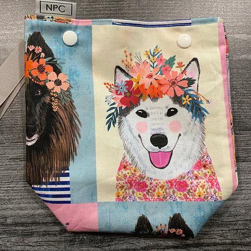 Big Floral Dogs Snap Sack