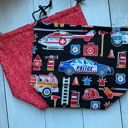 Everyday Heroes Drawstring Bag