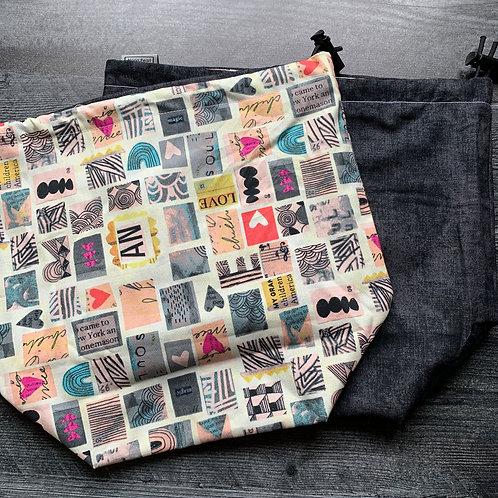 Love from Afar Drawstring Bag