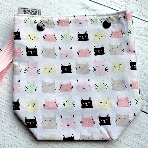 Cute Cats White Snap Sack