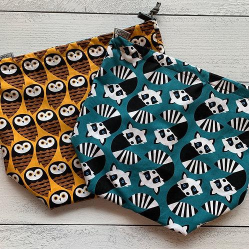 Owls-Lemur Drawstring Bag