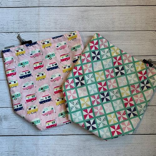 RVs and Quilt Squares Drawstring Bag