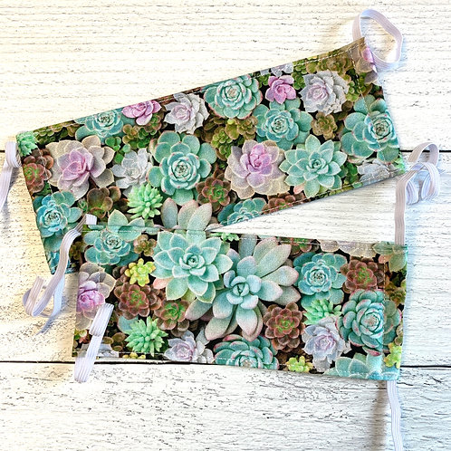 Succulent Fabric Mask Size S