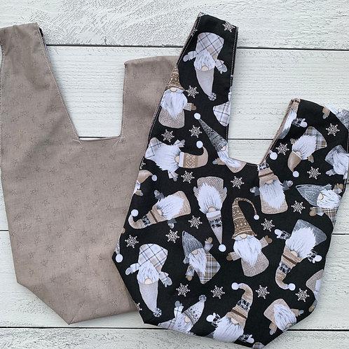 Gnomes on Black Knot Bag