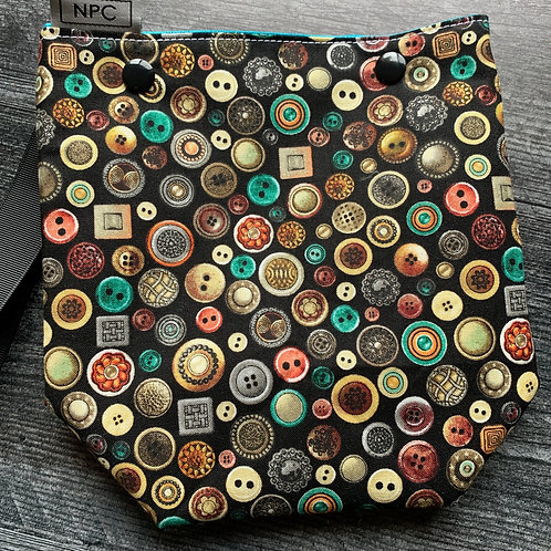 Antique Buttons Snap Sack