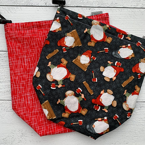 Lumberjack Gnome Drawstring Bag