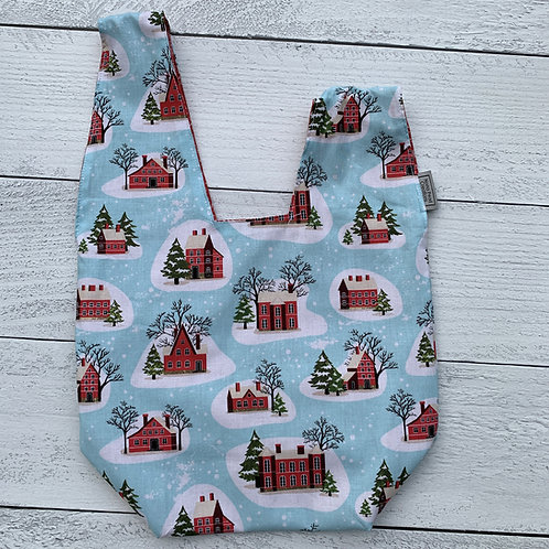 Snowy Houses Knot Bag