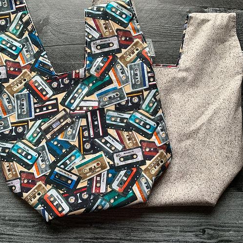Mix Tape Tan Knot Bag