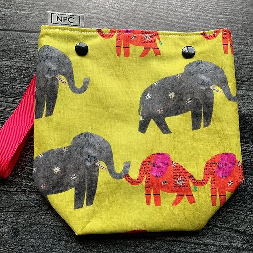 Elephants Snap Sack